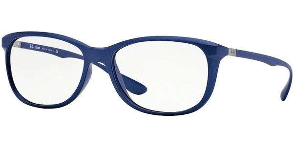 Dioptrické brýle Ray-Ban® model 7024, barva obruby modrá mat, stranice modrá mat, kód barevné varianty 5207.
