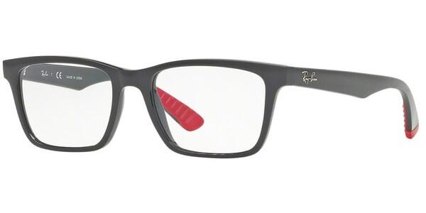 Dioptrické brýle Ray-Ban® model 7025, barva obruby šedá lesk, stranice šedá červená lesk, kód barevné varianty 5418.