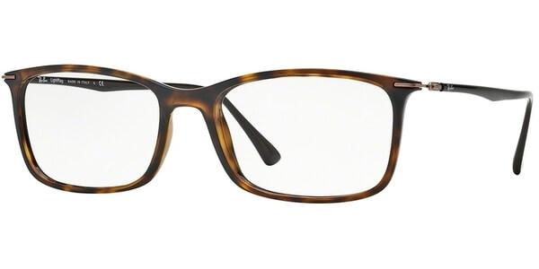 Dioptrické brýle Ray-Ban® model 7031, barva obruby hnědá lesk, stranice hnědá lesk, kód barevné varianty 2301.
