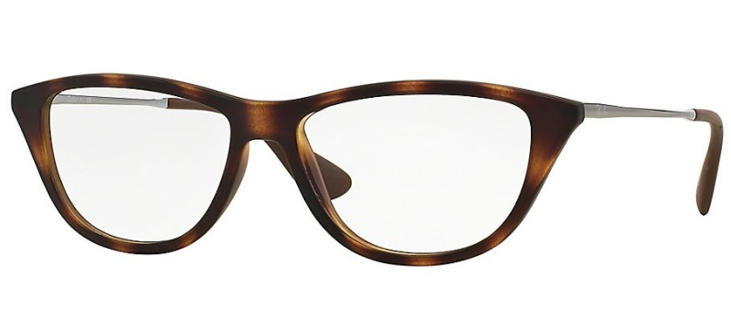 Dioptrické brýle Ray-Ban® model 7042, barva obruby hnědá mat, stranice stříbrná lesk, kód barevné varianty 5365.
