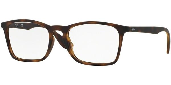 Dioptrické brýle Ray-Ban® model 7045, barva obruby hnědá mat, stranice hnědá mat, kód barevné varianty 5365.