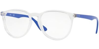 Dioptrické brýle Ray-Ban® model 7046, barva obruby čirá lesk, stranice modrá lesk, kód barevné varianty 5734.