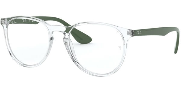 Dioptrické brýle Ray-Ban® model 7046, barva obruby čirá lesk, stranice zelená lesk, kód barevné varianty 5952.