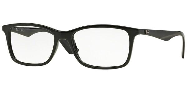 Dioptrické brýle Ray-Ban® model 7047, barva obruby černá lesk, stranice černá lesk, kód barevné varianty 2000.