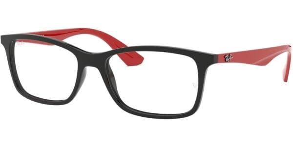 Dioptrické brýle Ray-Ban® model 7047, barva obruby černá lesk, stranice červená lesk, kód barevné varianty 2475.