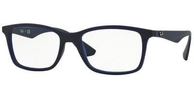 Dioptrické brýle Ray-Ban® model 7047, barva obruby modrá mat, stranice modrá mat, kód barevné varianty 5450.