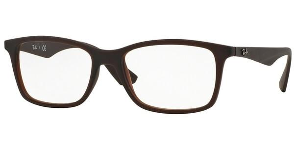 Dioptrické brýle Ray-Ban® model 7047, barva obruby hnědá mat, stranice hnědá mat, kód barevné varianty 5451.