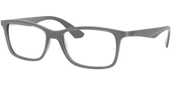 Dioptrické brýle Ray-Ban® model 7047, barva obruby šedá mat, stranice šedá mat, kód barevné varianty 5482.