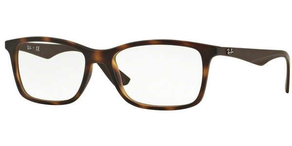 Dioptrické brýle Ray-Ban® model 7047, barva obruby hnědá mat, stranice hnědá mat, kód barevné varianty 5573.