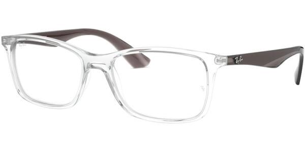 Dioptrické brýle Ray-Ban® model 7047, barva obruby čirá lesk, stranice šedá lesk, kód barevné varianty 5768.
