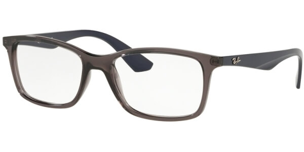Dioptrické brýle Ray-Ban® model 7047, barva obruby šedá čirá lesk, stranice modrá mat, kód barevné varianty 5848.