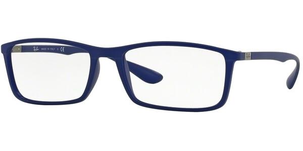 Dioptrické brýle Ray-Ban® model 7048, barva obruby modrá mat, stranice modrá mat, kód barevné varianty 5439.