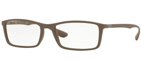 Dioptrické brýle Ray-Ban® model 7048, barva obruby hnědá mat, stranice hnědá mat, kód barevné varianty 5522.