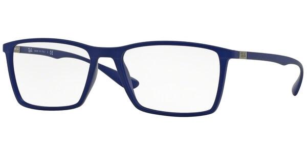 Dioptrické brýle Ray-Ban® model 7049, barva obruby modrá mat, stranice modrá mat, kód barevné varianty 5439.
