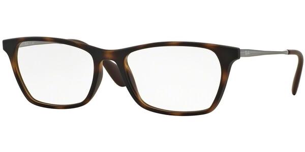 Dioptrické brýle Ray-Ban® model 7053, barva obruby hnědá mat, stranice stříbrná lesk, kód barevné varianty 5365.