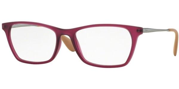 Dioptrické brýle Ray-Ban® model 7053, barva obruby fialová mat, stranice stříbrná lesk, kód barevné varianty 5526.
