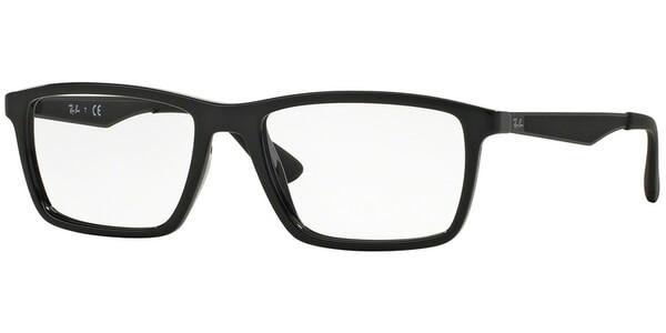 Dioptrické brýle Ray-Ban® model 7056, barva obruby černá lesk, stranice černá mat, kód barevné varianty 2000.