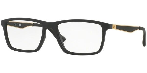 Dioptrické brýle Ray-Ban® model 7056, barva obruby černá mat, stranice černá zlatá mat, kód barevné varianty 5644.