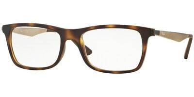 Dioptrické brýle Ray-Ban® model 7062, barva obruby hnědá mat, stranice bronzová mat, kód barevné varianty 5200.