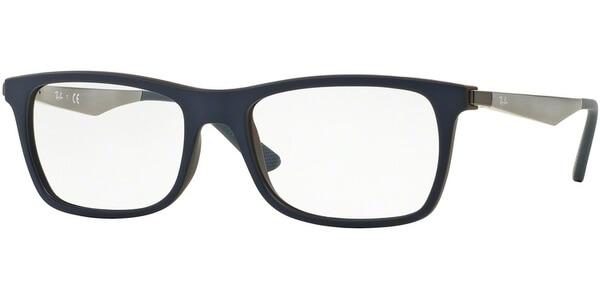 Dioptrické brýle Ray-Ban® model 7062, barva obruby modrá mat, stranice stříbrná mat, kód barevné varianty 5575.