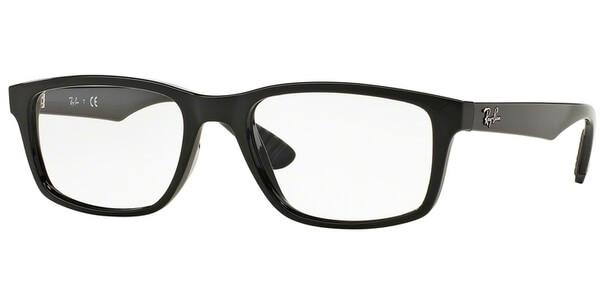 Dioptrické brýle Ray-Ban® model 7063, barva obruby černá lesk, stranice černá lesk, kód barevné varianty 2000.