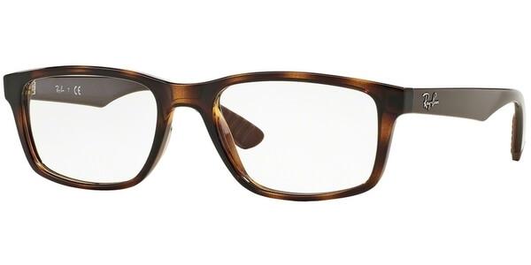 Dioptrické brýle Ray-Ban® model 7063, barva obruby hnědá lesk, stranice hnědá lesk, kód barevné varianty 5577.