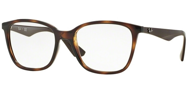 Dioptrické brýle Ray-Ban® model 7066, barva obruby hnědá lesk, stranice hnědá lesk, kód barevné varianty 5577.