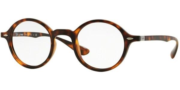 Dioptrické brýle Ray-Ban® model 7069, barva obruby hnědá mat, stranice hnědá mat, kód barevné varianty 5200.