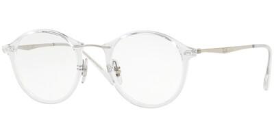 Dioptrické brýle Ray-Ban® model 7073, barva obruby čirá lesk, stranice stříbrná lesk, kód barevné varianty 2001.