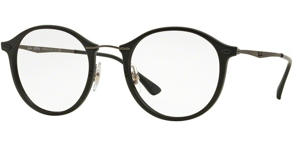 Dioptrické brýle Ray-Ban® model 7073, barva obruby černá mat, stranice šedá lesk, kód barevné varianty 2077.