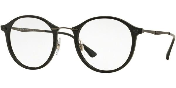 Dioptrické brýle Ray-Ban® model 7073, barva obruby černá mat, stranice šedá mat, kód barevné varianty 2077.