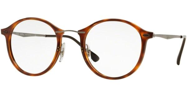 Dioptrické brýle Ray-Ban® model 7073, barva obruby hnědá lesk, stranice stříbrná mat, kód barevné varianty 5588.
