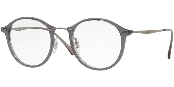 Dioptrické brýle Ray-Ban® model 7073, barva obruby šedá lesk, stranice stříbrná lesk, kód barevné varianty 5620.