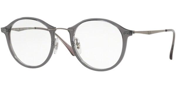 Dioptrické brýle Ray-Ban® model 7073, barva obruby šedá lesk, stranice stríbrná lesk, kód barevné varianty 5620.