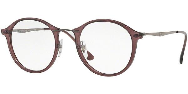 Dioptrické brýle Ray-Ban® model 7073, barva obruby vínová čirá lesk, stranice šedá mat, kód barevné varianty 5740.
