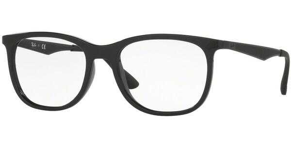 Dioptrické brýle Ray-Ban® model 7078, barva obruby černá lesk, stranice černá mat, kód barevné varianty 2000.