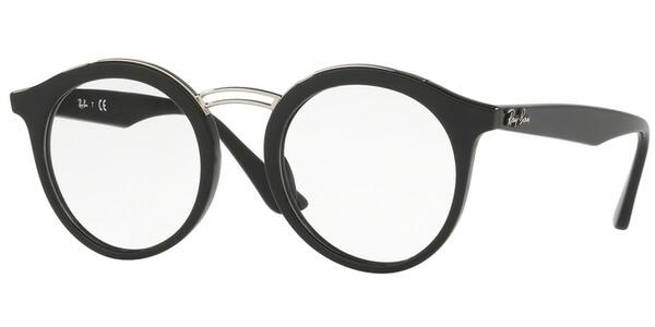 Dioptrické brýle Ray-Ban® model 7110, barva obruby černá stříbrná lesk, stranice černá lesk, kód barevné varianty 2000.
