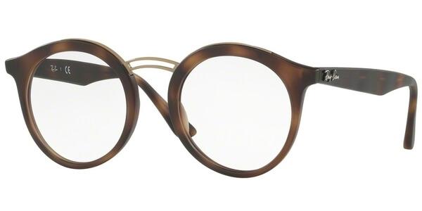 Dioptrické brýle Ray-Ban® model 7110, barva obruby hnědá zlatá mat, stranice hnědá mat, kód barevné varianty 5200.