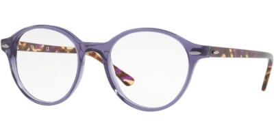 Dioptrické brýle Ray-Ban® model 7118, barva obruby fialová lesk, stranice hnědá lesk, kód barevné varianty 8020.