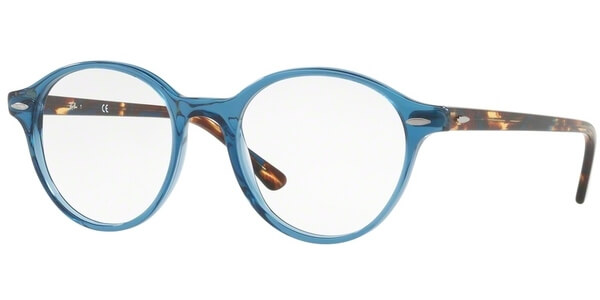 Dioptrické brýle Ray-Ban® model 7118, barva obruby modrá lesk, stranice hnědá lesk, kód barevné varianty 8022.