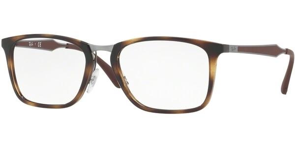 Dioptrické brýle Ray-Ban® model 7131, barva obruby hnědá lesk, stranice hnědá stříbrná mat, kód barevné varianty 2012.