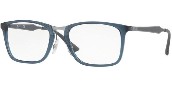 Dioptrické brýle Ray-Ban® model 7131, barva obruby modrá lesk, stranice šedá stříbrná mat, kód barevné varianty 5719.