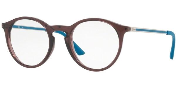 Dioptrické brýle Ray-Ban® model 7132, barva obruby hnědá lesk, stranice tyrkysová stříbrná lesk, kód barevné varianty 5720.
