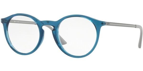 Dioptrické brýle Ray-Ban® model 7132, barva obruby tyrkysová lesk, stranice šedá stříbrná mat, kód barevné varianty 5721.