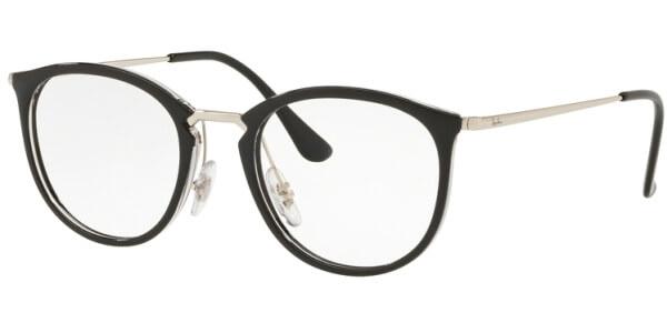 Dioptrické brýle Ray-Ban® model 7140, barva obruby černá zlatá lesk, stranice zlatá lesk, kód barevné varianty 2000.