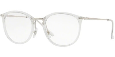 Dioptrické brýle Ray-Ban® model 7140, barva obruby čirá stříbrná lesk, stranice stříbrná lesk, kód barevné varianty 2001.