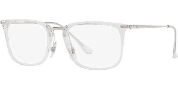 Dioptrické brýle Ray-Ban® model 7141, barva obruby čirá lesk, stranice stříbrná lesk, kód barevné varianty 2001.
