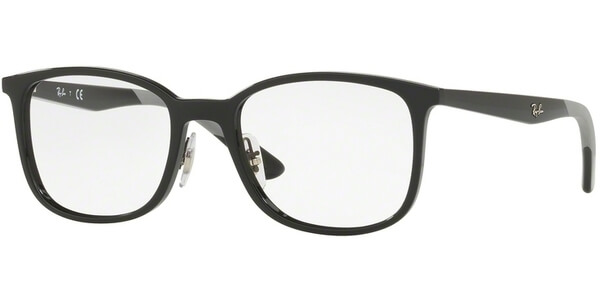 Dioptrické brýle Ray-Ban® model 7142, barva obruby černá lesk, stranice černá šedá lesk, kód barevné varianty 2000.