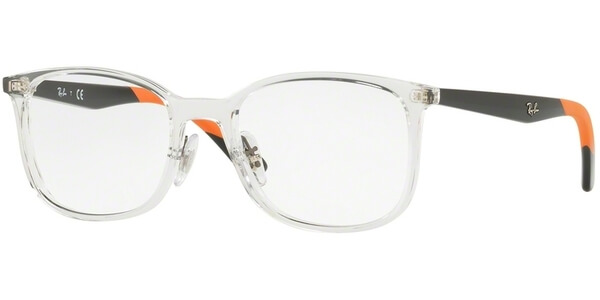 Dioptrické brýle Ray-Ban® model 7142, barva obruby čirá lesk, stranice černá oranžová lesk, kód barevné varianty 5759.