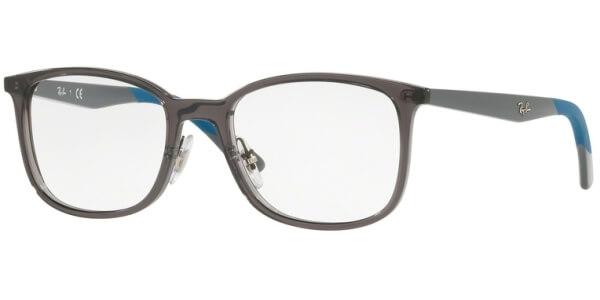 Dioptrické brýle Ray-Ban® model 7142, barva obruby šedá čirá lesk, stranice šedá modrá lesk, kód barevné varianty 5760.